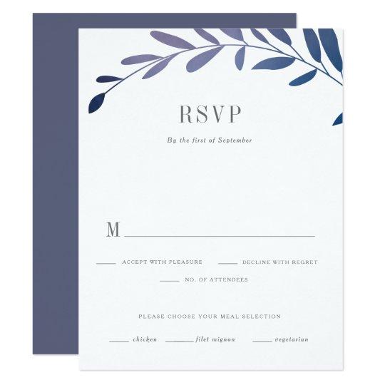 Ombre laurels RSVP card