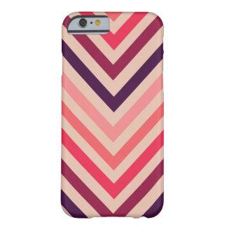 Ombre Magenta Chevron Stripes iPhone 6 case