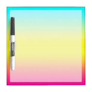 Ombre Magical Rainbow Unicorn Colours Dry Erase Board