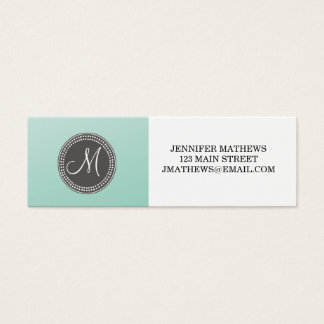 Ombre Mint Green Mini Business Card