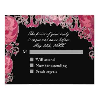 Ombre Modern Swirl Etchings Vintage Art Deco Style Custom Invitation