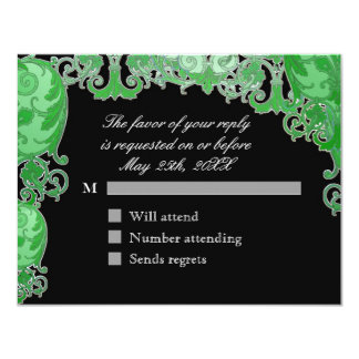 Ombre Modern Swirl Etchings Vintage Art Deco Style Announcement