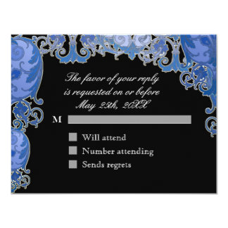 Ombre Modern Swirl Etchings Vintage Art Deco Style Personalized Announcements