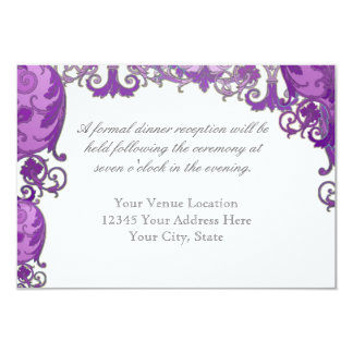 Ombre Modern Swirl Etchings Vintage Art Deco Style Personalized Invitations