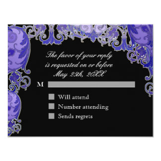 Ombre Modern Swirl Etchings Vintage Art Deco Style Personalized Invites