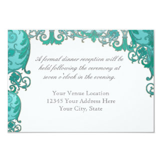 Ombre Modern Swirl Etchings Vintage Art Deco Style Custom Invitations