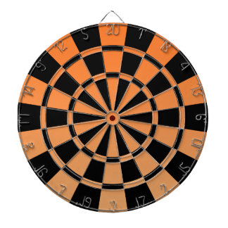 Ombre Orange And Black Dartboard