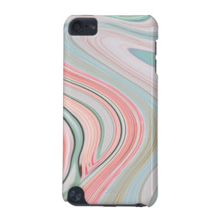 ombre pastel mint coral pink marble swirls iPod touch (5th generation) cover