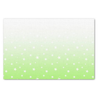 Ombre Pastel Spring Green Stars Tissue Paper
