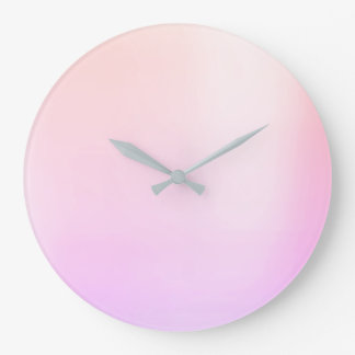 Ombre Pearly Rose Pink Metallic Swarovski Crystal Large Clock