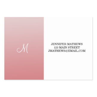 Ombre Pink Pack Of Chubby Business Cards