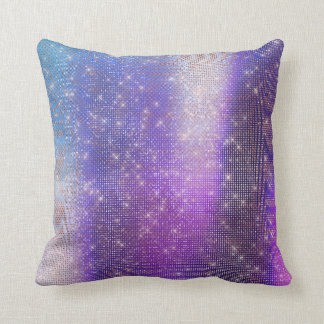 Ombre Purple Plum Teal Pink Sequin Sparkly Light Cushion