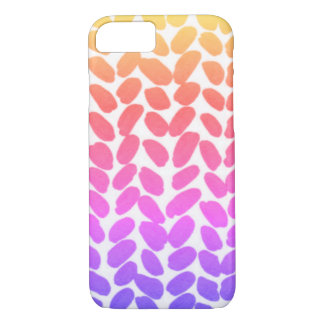 Ombre Rainbow Knit Phone Case