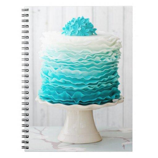 Ombre ruffle cake spiral note books