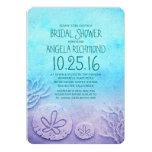 Ombre sand dollar beach bridal shower invitation