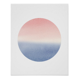 ombre sunset seascape poster art print