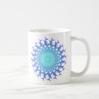 Ombre Tribal Hammerhead Mandala Coffee Mug