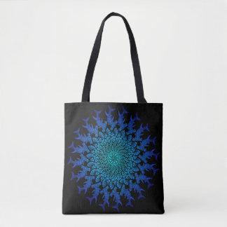 Ombre Tribal Hammerhead Mandala Tote Bag