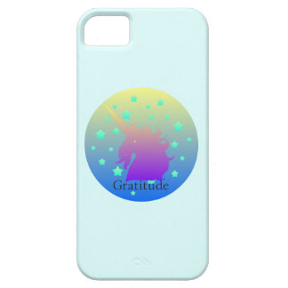 Ombre unicorn with word gratitude iPhone 5 covers