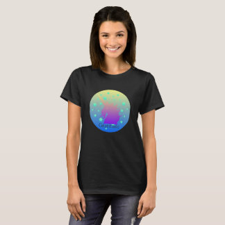 Ombre unicorn with word gratitude T-Shirt