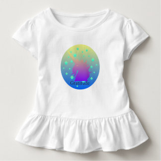 Ombre unicorn with word gratitude toddler T-Shirt