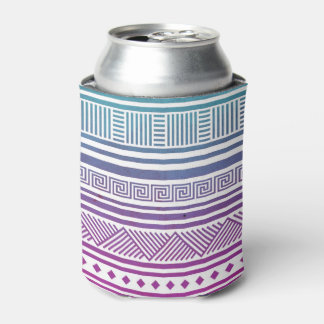 Ombre Vintage Aztec Tribal Andes Pattern Can Cooler