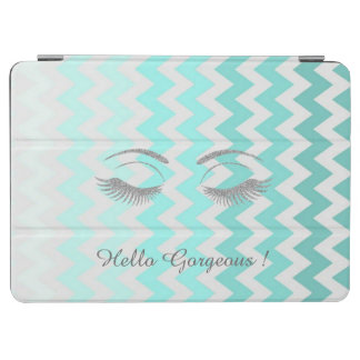 Ombre,Zigzag Chevron,Glitter Lashes,Hello Gorgeous iPad Air Cover