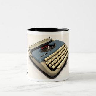 Omega 2 typewriter Two-Tone mug