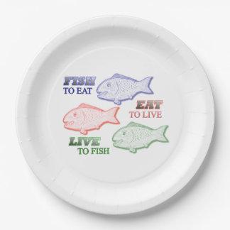 Omega 3 paper plate