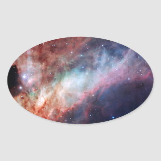 Omega Nebula Space Astronomy Oval Sticker