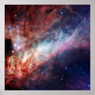 Omega Nebula Space Astronomy Print