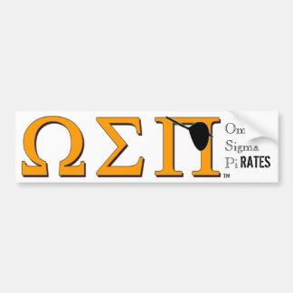Omega Sigma Pi(rates) Bumper Sticker