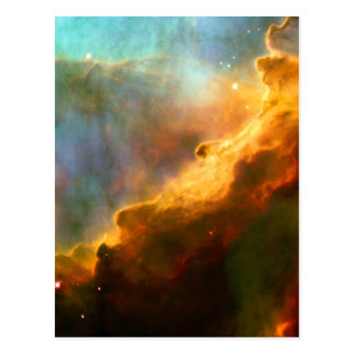 Omega Swan Nebula Hubble Space Postcard
