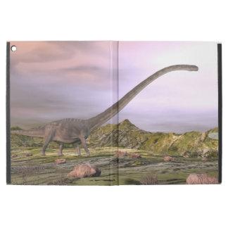 "Omeisaurus walking in the desert by sunset iPad pro 12.9"" case"