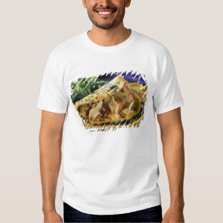 Omelette with dill and vegetables in the t shirt