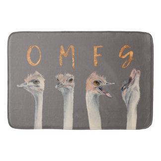 OMFG Ostriches Bath Mat