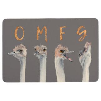 OMFG Ostriches Floor Mat
