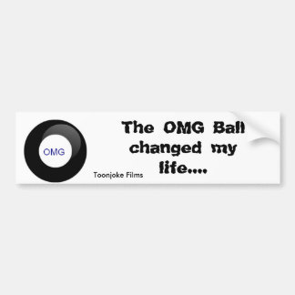 OMG Ball Bumper Sticker