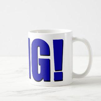 OMG! blue Coffee Mug