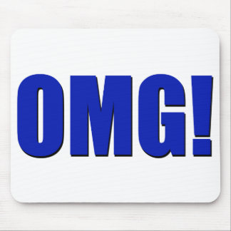 OMG! blue Mousepad