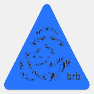 OMG! brb Triangle Sticker