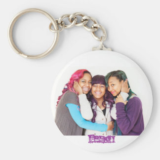 OMG button Key Ring