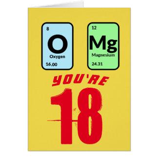 OMg Customisable Birthday Card