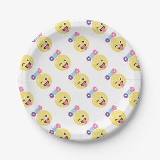 OMG Emoji 7 Inch Paper Plate