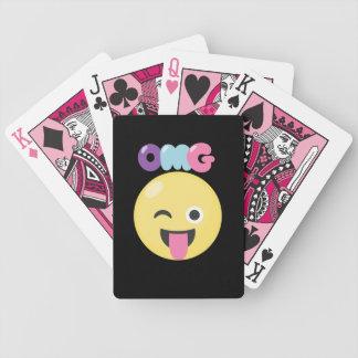 OMG Emoji Bicycle Playing Cards