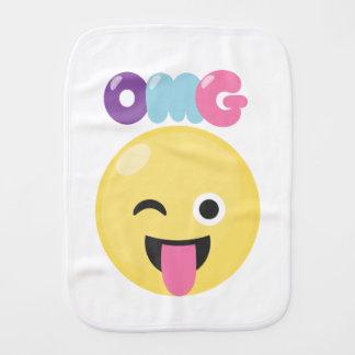 OMG Emoji Burp Cloth
