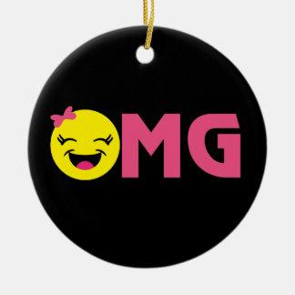 OMG Emoji Cutie Ceramic Ornament