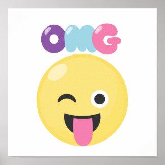 OMG Emoji Poster