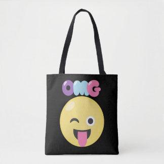 OMG Emoji Tote Bag