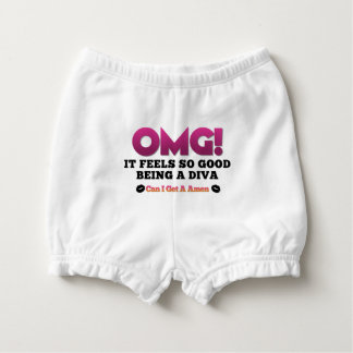 OMG Feels So Good Being A Diva  Diaper Cover Nappy Cover